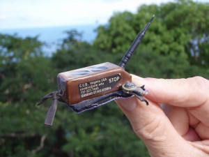 Broken satellite transmitter removed from Hope.