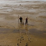 Richard and Katy on mudflat