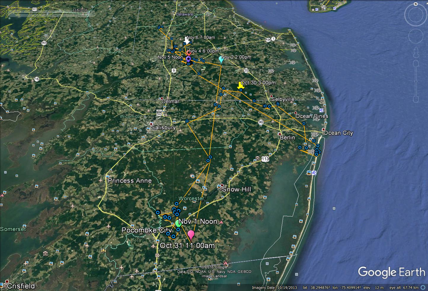 The Center For Conservation Biology  EagleTrak Blog - Us counties google earth